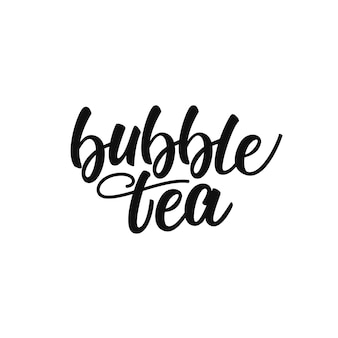 Bubble tea lettering