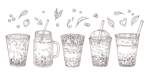 Набор пузырьковых чаев