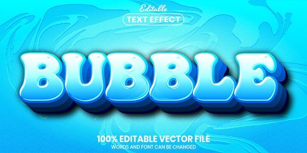 Bubble text, font style editable text effect