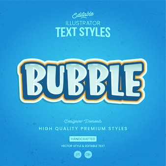 Bubble text style