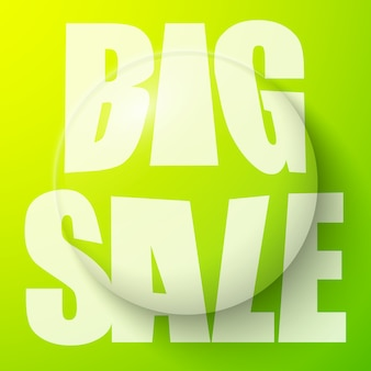 Bubble with big sale text, sale banner