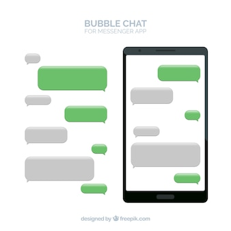 Bubbles chat for messenger app in flat style