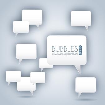 Пузыри выражения иконки на сером фоне