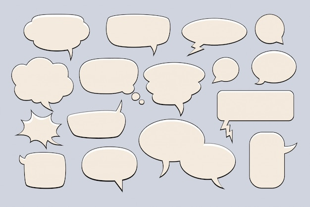 Пузыри для текста. набор пузырьков для слов.