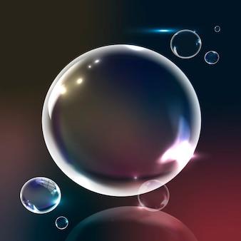 グラデーションの背景の泡