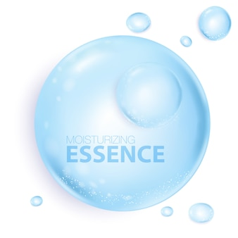 Bubbles water essence in flat design