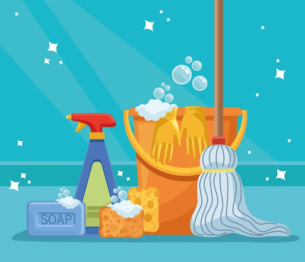Bucket and housekeeping tools
