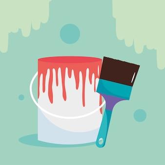 Bucket paint brush repair and remodeling