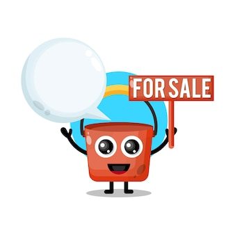 Bucket for sale cute character mascot