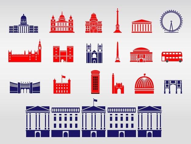 Buckingham palace london monuments vector