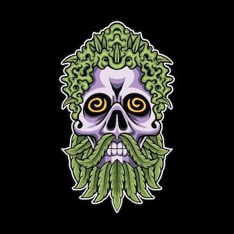 Bud skull mascot
