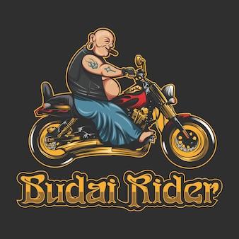 Budai rider vector illustration