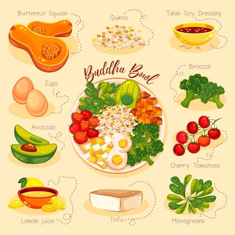 仏丼のレシピを図解
