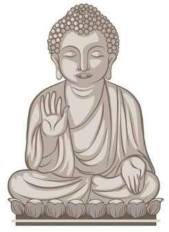 A buddhist images on whate background