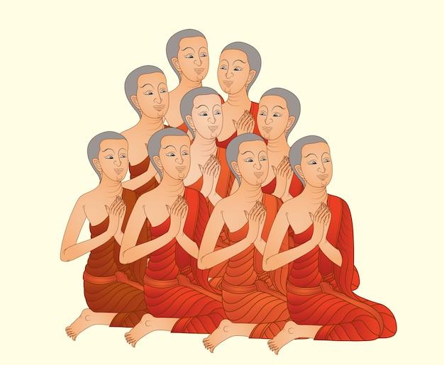 Buddhist monk of the buddha