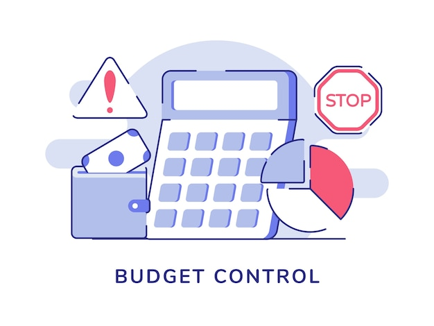Budget control calculator of money wallet