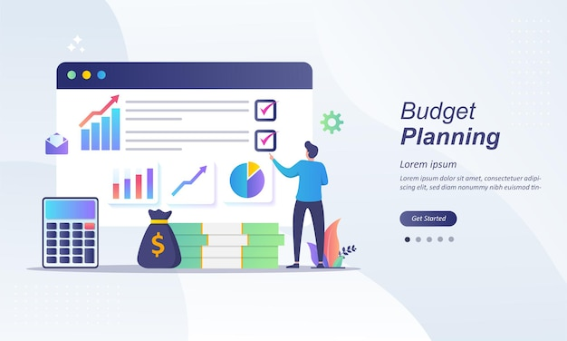予算計画、紙のチェックリストの財務アナリスト