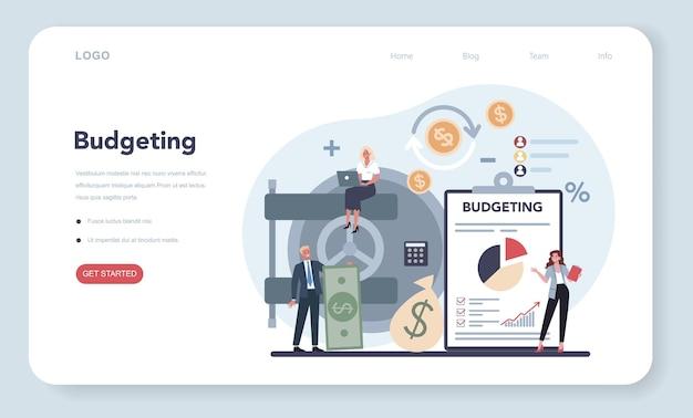 Budgeting web banner or landing page
