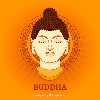 Budha representation with flat design