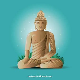 Budha statue with realistic design