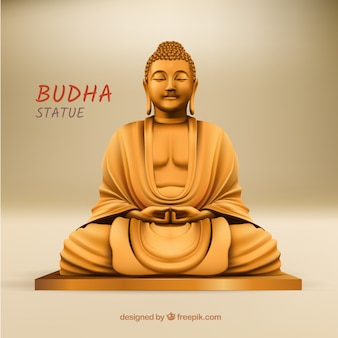 Budha statue with realistic style