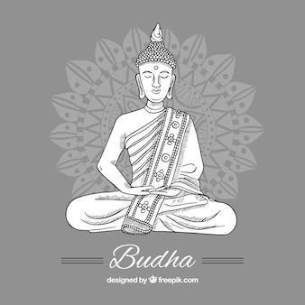 手描きのスタイルでbudha表現