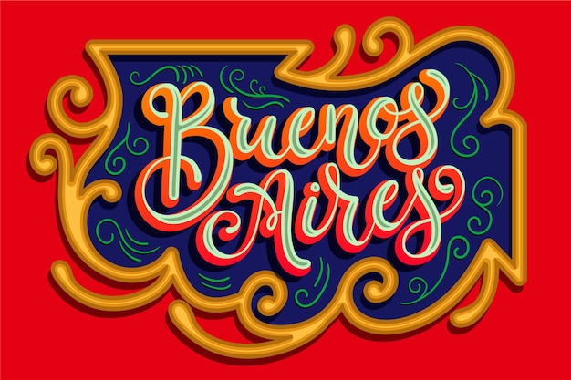 Buenos aires city lettering