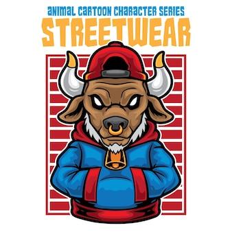 Buffalo fashion illustration