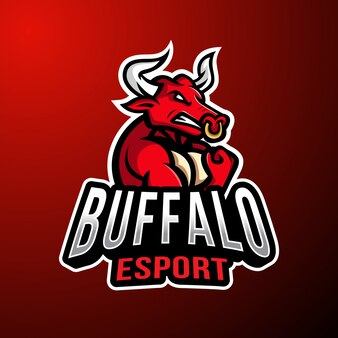 Buffalo талисман киберспорт логотип