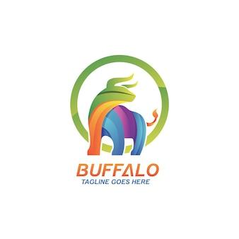 Шаблон дизайна логотипа талисмана буйвола