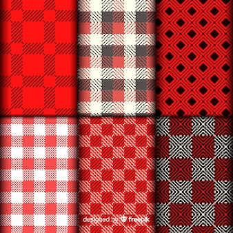 Buffalo pattern collection realistic