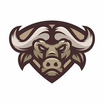 Buffalo - vector logo/icon illustration mascot