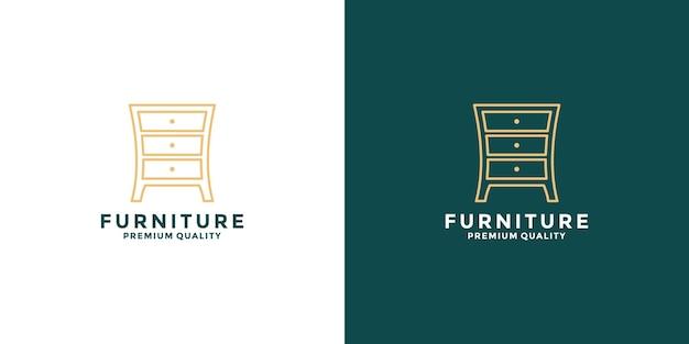 귀하의 비즈니스 부동산, 인테리어 등에 대한 뷔페 가구 로고 디자인 영감