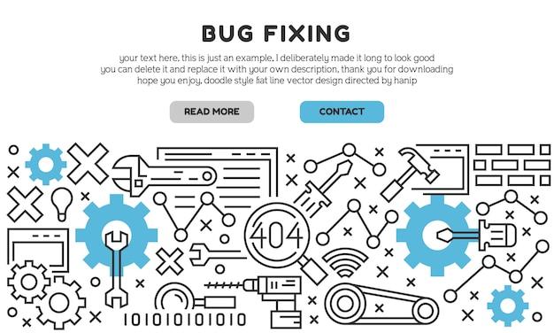 Bug fixing landing page