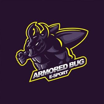 Bug logo e-sport gaming mascot logo template
