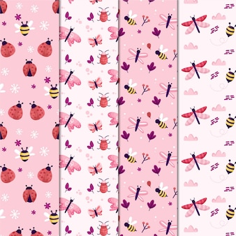 Bug pattern collection Free Vector