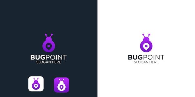 Bug point logo design template