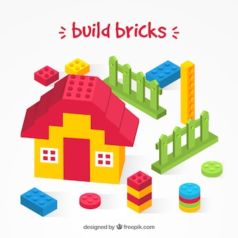 Build bricks background