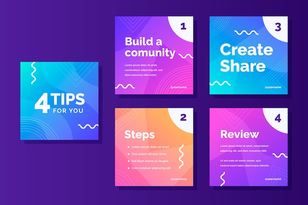 Build a community instagram stories template for tips