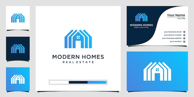Build house logo with flat art style. home build abstract for logo