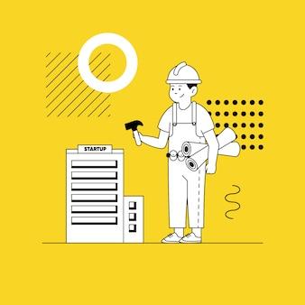 Build startup website  illustration