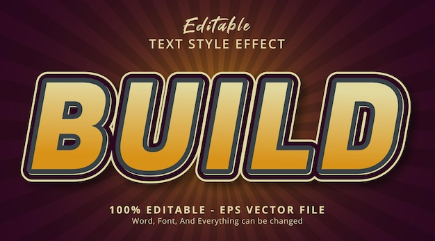 Build text on poster style effect, editable text effect