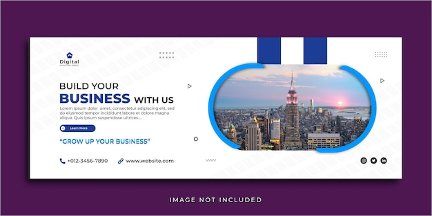 あなたのビジネスマーケティングを構築するfacebookカバーソーシャルメディア投稿バナーテンプレート