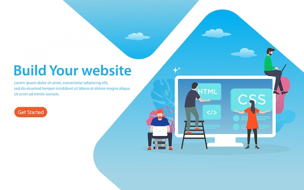 Build your website landing page