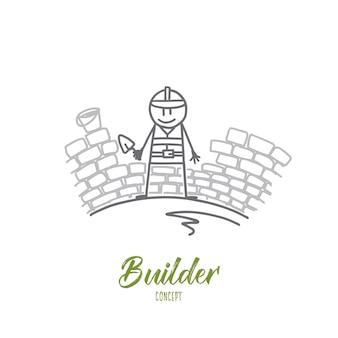 Builder concept illustration