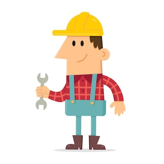 Builder holding spanner