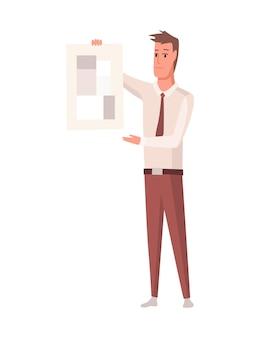 Строитель или архитектор. профессиональный характер. инженер-мужчина или рабочий, изолированные на белом фоне