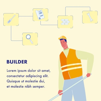 Builder poster template with text space