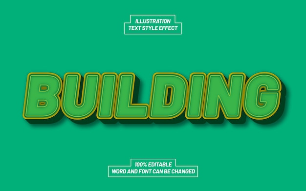 Building 3d bold text style effect