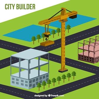 アイソメトリックデザインで都市の構築
